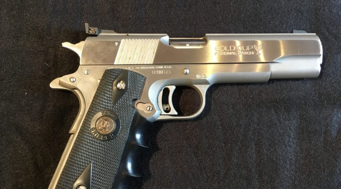 Colt 1911 Gold Cup First Edition